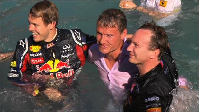 Eddie Jordan and David Coulthard are thrown in Red Bull pool