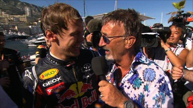 Sebastian Vettel with Eddie Jordan
