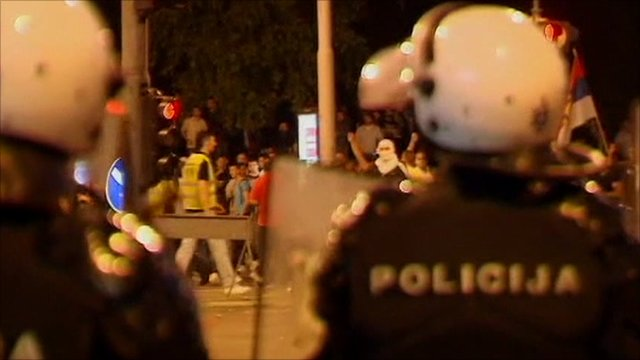 Police in Belgrade