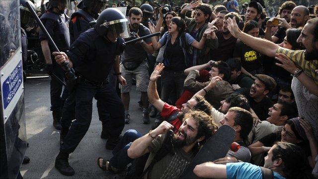 Protests in Spain