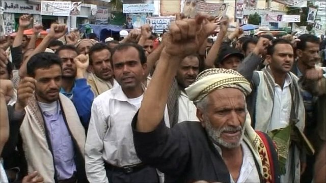 Protesters in Sanaa