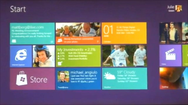 Windows 8 home screen