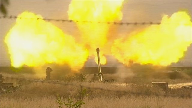 Artillery firing