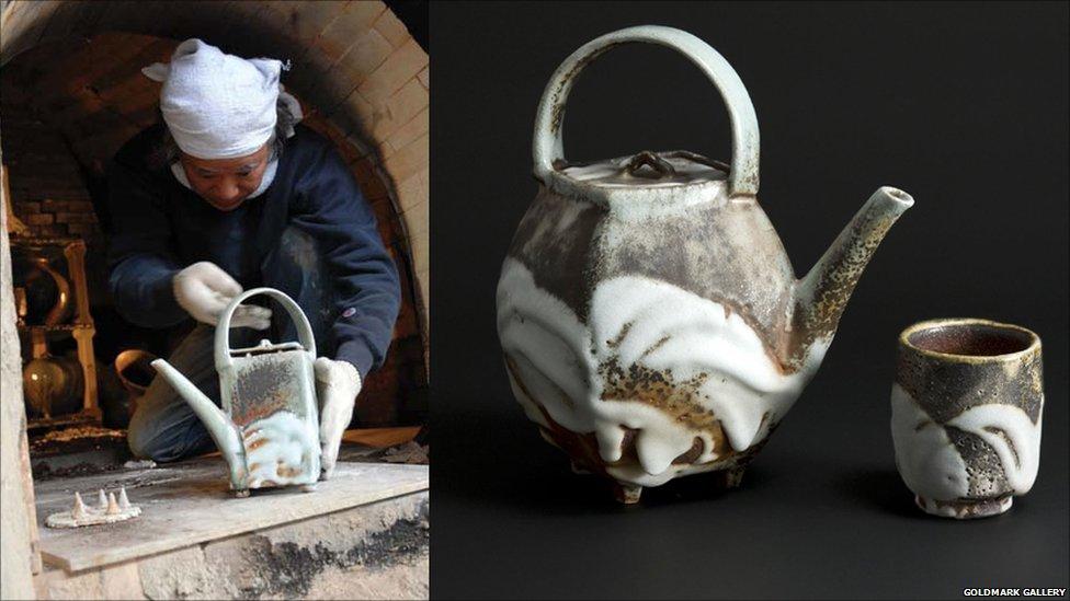 Bbc News Japanese Ceramic Artist Visits Saved Work In