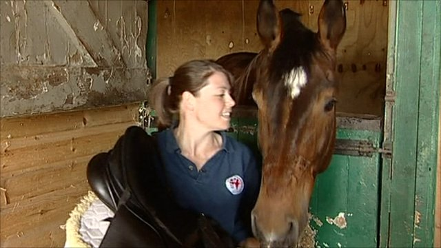 Ruth MacCarthy with new horse Carlos