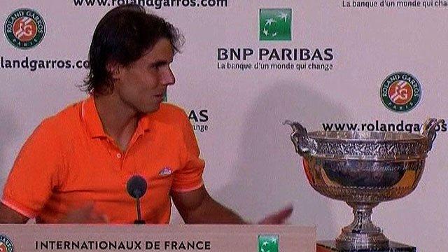 French Open winner Rafa Nadal