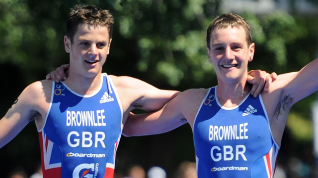 Jonathan and Alistair Brownlee at Madrid triathlon