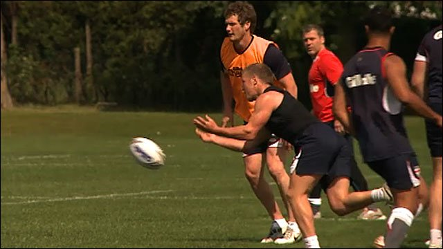 England training ahead of clash with the Exiles