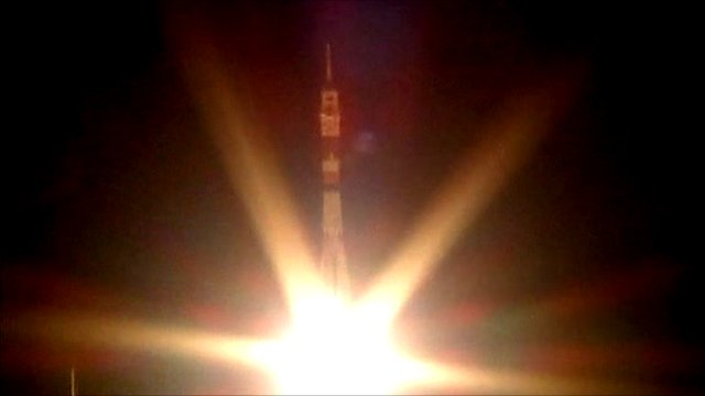 Soyuz lifting off