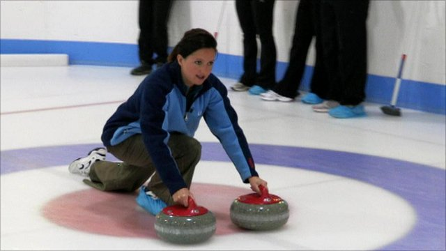 BBC Sport Nation presenter Rhona McLeod on the ice