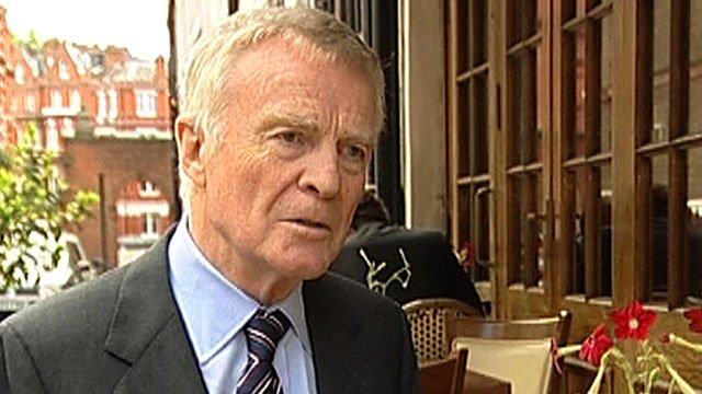 Former FIA chief Max Mosley