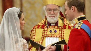 Dr Rowan Williams conducted the wedding of Prince William and Kate Middleton