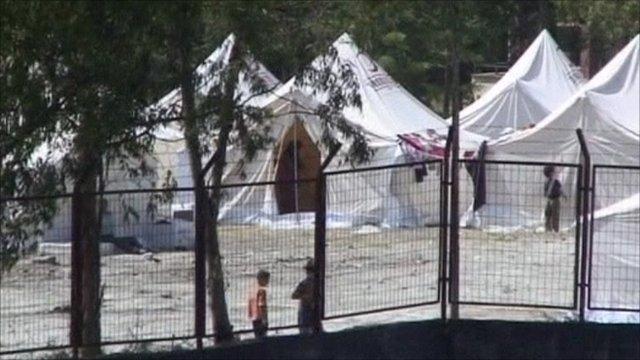 Refugee camp on Turkish/Syrian border