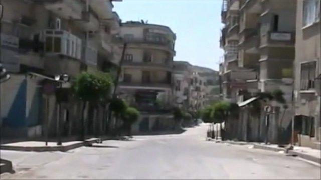 Deserted streets in Jisr al-Shughour