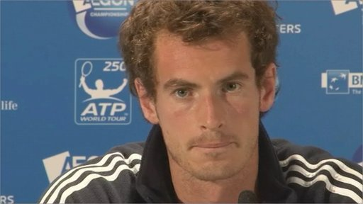 World tennis number four Andy Murray