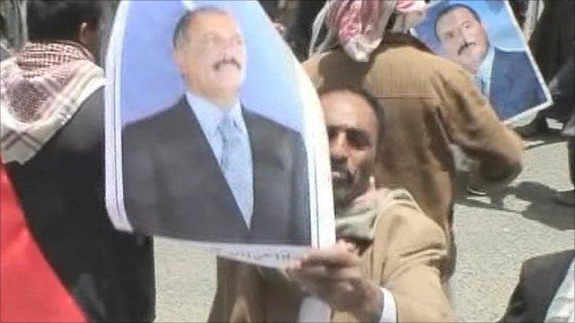 Pro-Saleh protester in Sanaa