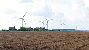 Artists impression of Wainfleet wind farm
