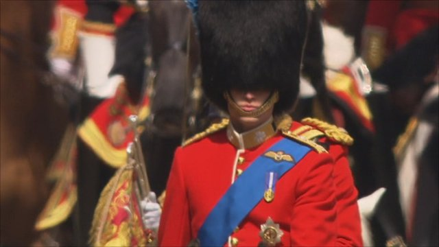 Prince William rides on horseback
