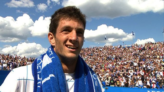James Ward loses to Jo-Wilfred Tsonga at Queen's