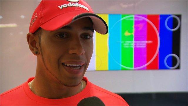 Lewis Hamilton talks to BBC Sport's Ted Kravitz