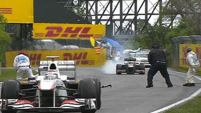 Steward falls over