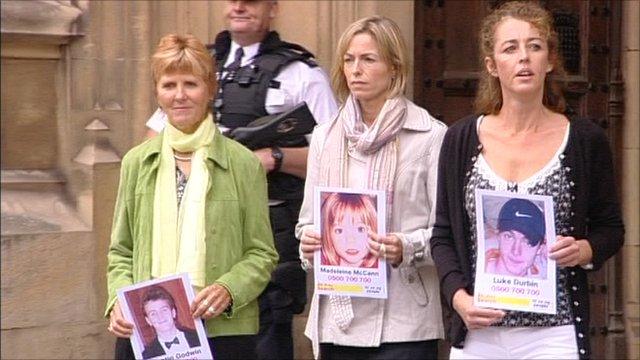 Sarah Godwin, Kate McCann and Nicki Durbin