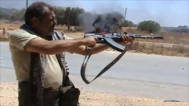 Rebel fighter in Libya