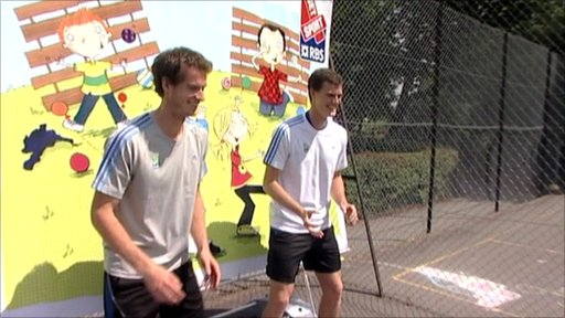 Tennis stars Andy Murray (left) and brother Jamie