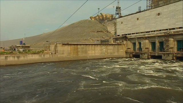A hydro-electric dam near Kodinsk