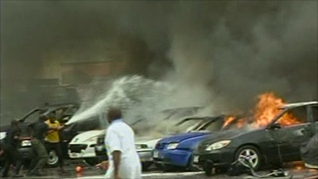 Aftermath of blast in Nigeria