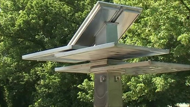 World's first solar-powered mobile charger