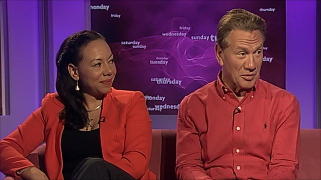 Oona King and Michael Portillo