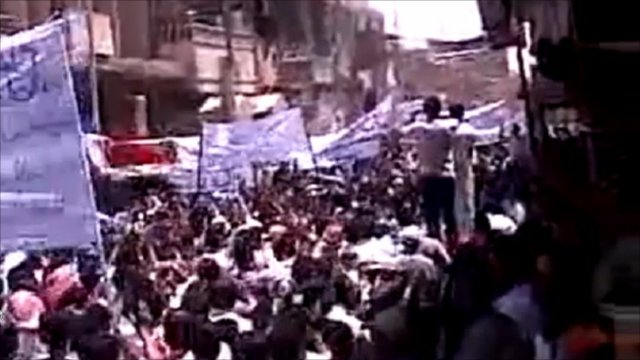 Protests said to be in the eastern town of Abu Kamal