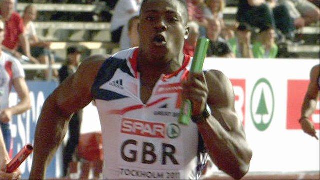Britain's men win 100m relay