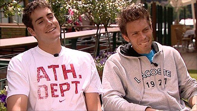 John Isner and Nicolas Mahut