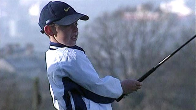 Nine-year-old Rory McIlroy