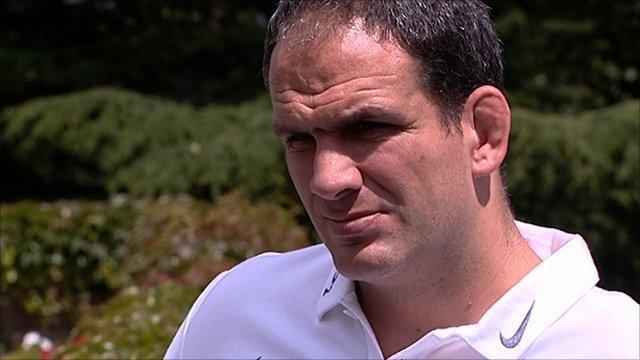 England manager Martin Johnson