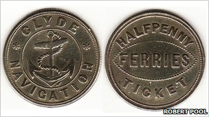 Clyde Navigation Ferry halfpenny token