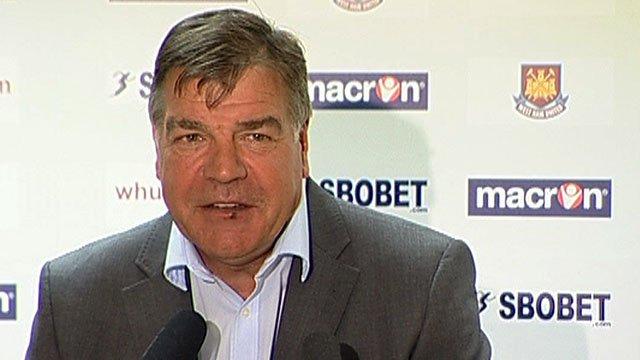 New West Ham United boss Sam Allardyce