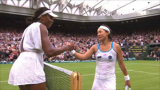 Venus Williams and Kimiko Date-Krumm