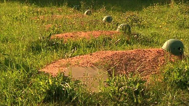 Soviet soldiers graves