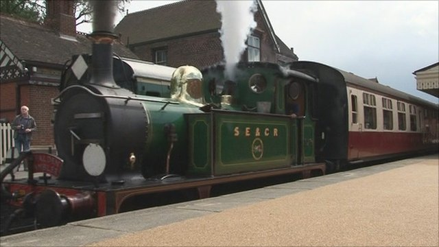 The Bluebell Railway line