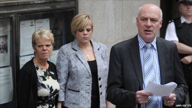 Sally, Gemma and Bob Dowler