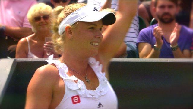 Top seed Caroline Wozniacki