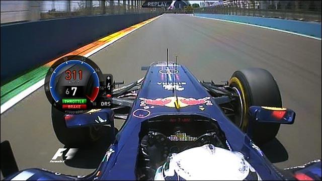 Sebastian Vettel's European GP pole lap