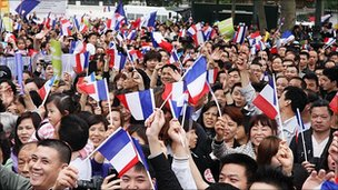 Ethnic Chinese demonstrate against muggings in Paris, France