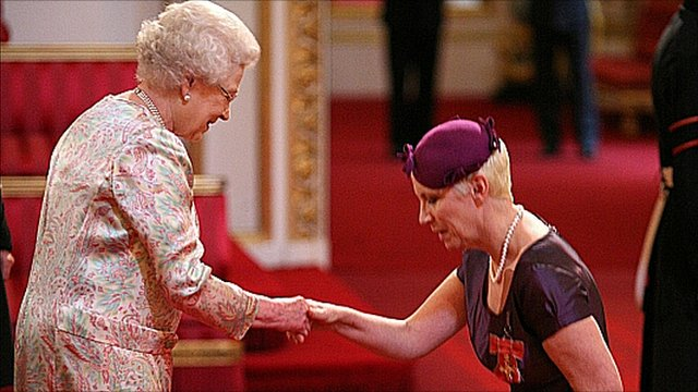 The Queen and Annie Lennox