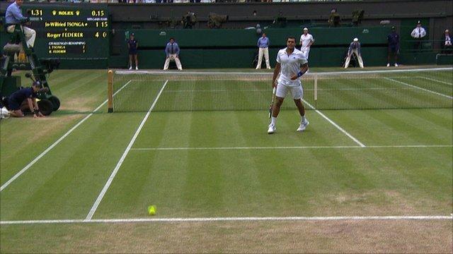 Fantastic Roger Federer hits sublime lob