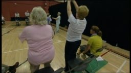 Fitness class for the over 60s in Sheffield