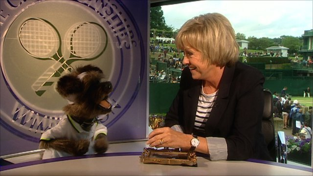 Hacker The Dog and Sue Barker